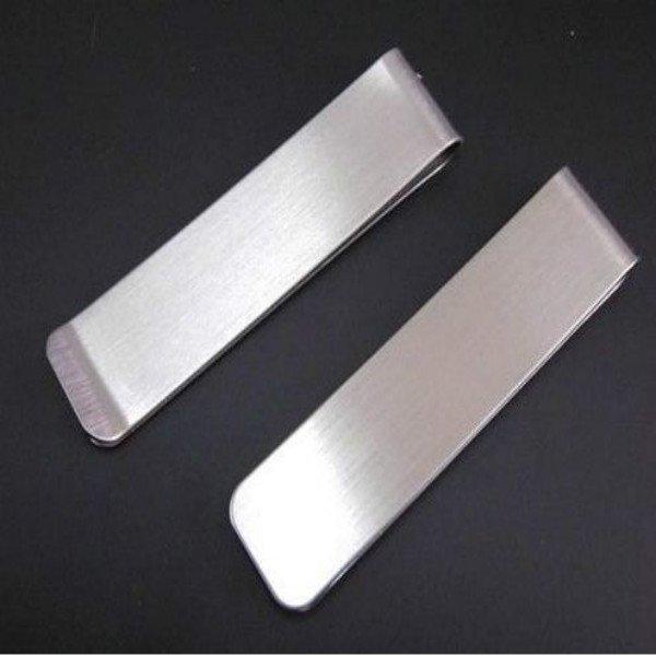 Unisex Stainless Steel Money Clip Credit Card Holder