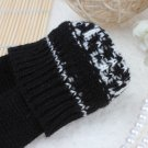 Zanzea Snowflake Wrist Long Knit Fingerless Gloves
