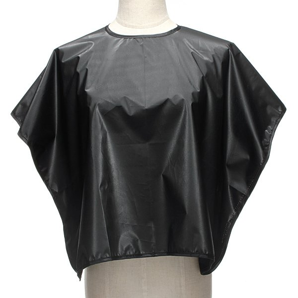 Black Waterproof Salon Hair Cutting Dye Perm Hairdressing Cape