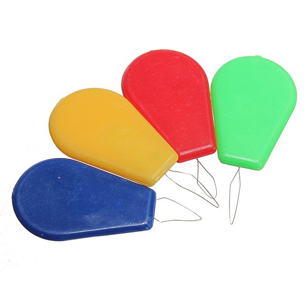 10Pcs Needle Threader Bow Wire Stitch Insert Plastic Craft Tool