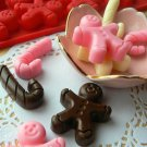 Silicone Candy Cane Chocolate Cookie Mould For Xmas Party