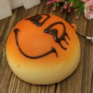 Cute Expression Squishy Kawaii Bread Key Bag Car Accessories