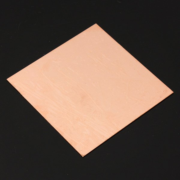 99.9% Pure Copper Sheet Metal Plate 1mm*100mm*100mm