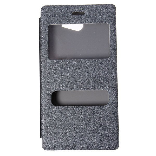 Flip Sucker View Window PU Leather Case Stand For Sony Xperia M2