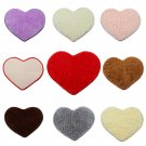 Shaggy Heart Shower Rug Bath Mat Carpet Doormat Home Decor