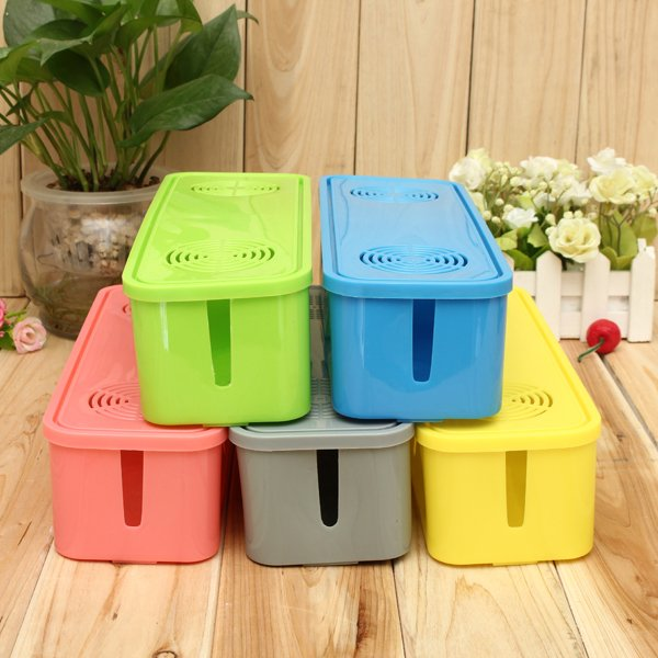 Anti-dust Safe Socket Board Cables Plug Storage Box Container