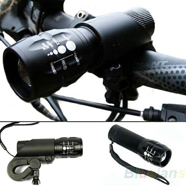CREE Q5 240Lumens 3Modes Outdoor Bicycle EDC LED Flashlight
