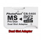 Memory Card Dual SLOT Adapter Micro SD TF to MS PRO DUO