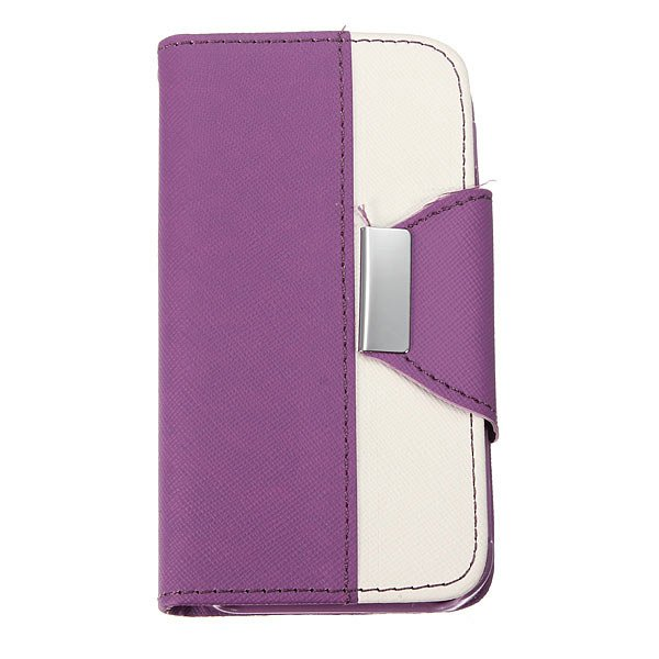 Double Colors PU Leather Protector Case Cover For iPhone 4 4S