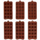 15 Holes Silicone Cake Mold 6 Patterns