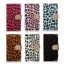 Leopard Diamond Leather Flip Wallet Stand Case For Samsung S4 i9500
