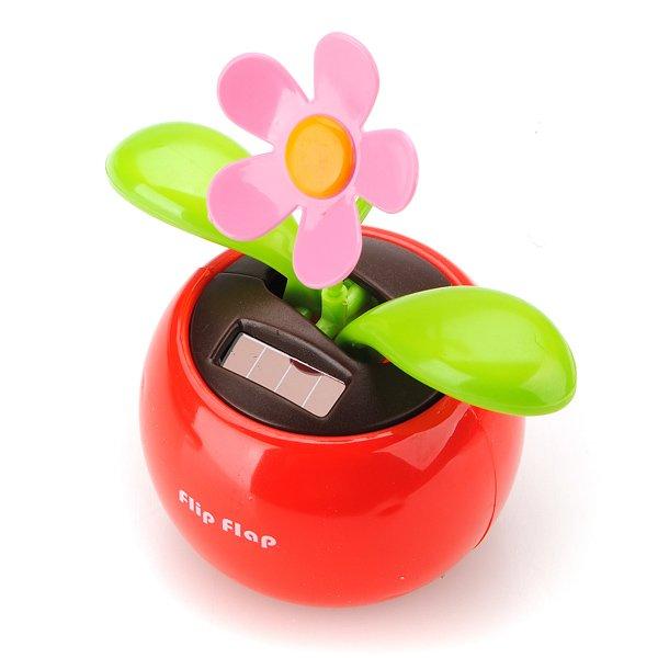 Flip Swing Flap Solar Powered Flower Car Toy Gift