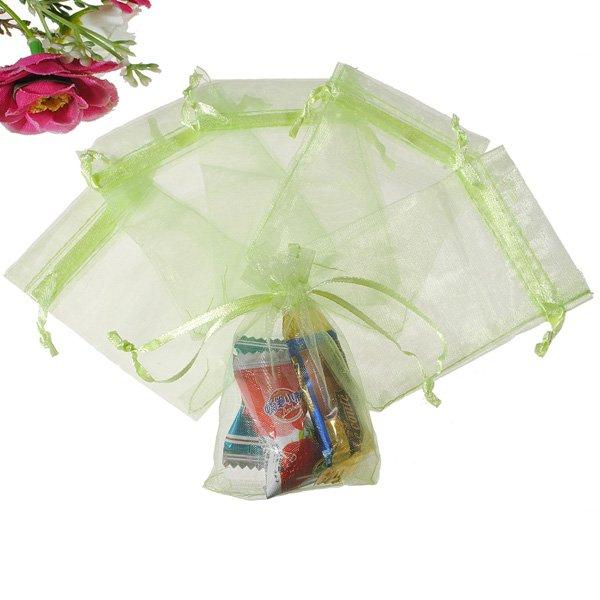 25Pcs 7X9cm Grass Green Gift Bag