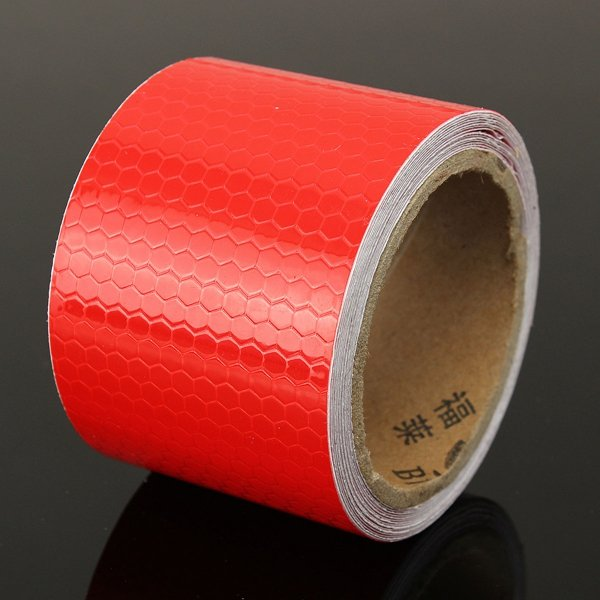 """2""""""""X10"""""""" 3m Red Reflective Safety Warning Conspicuity Tape Film Sticker"""