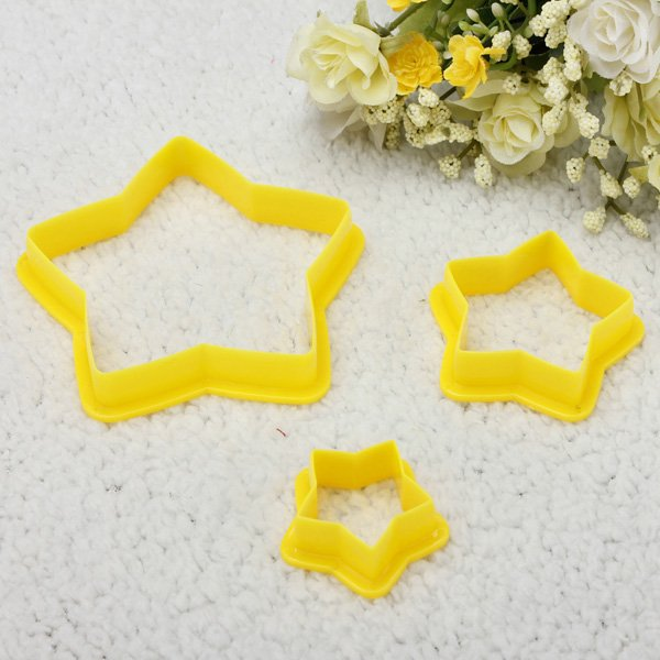 6pcs Star Shape Cake Cookie Cutter Baking Cheese Embossing Mold