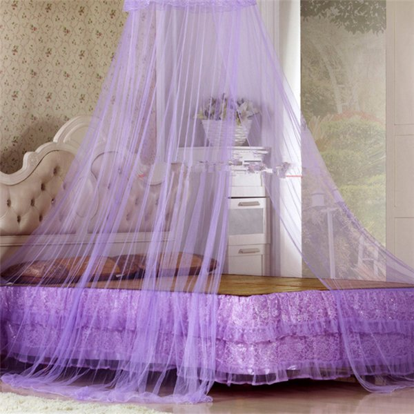 Elegant Round Lace Insect Bed Canopy Curtain Dome Mosquito Net