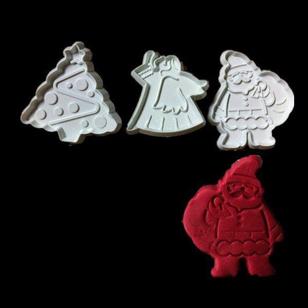 3PCS Christmas Day Plastic Cake Mold