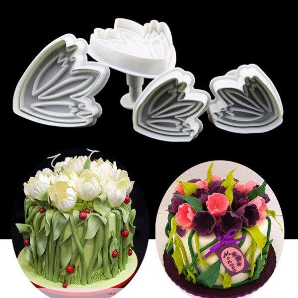 Tulip Cake Decorating Tools Plunger Cutter