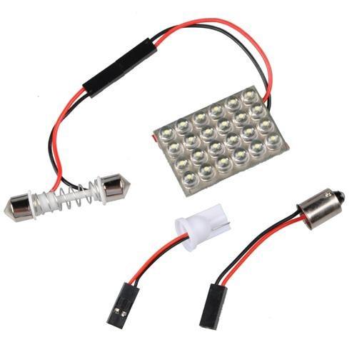 Light Panel 24 LED BA9S + T10 + Dome Festoon Bulb Lamp