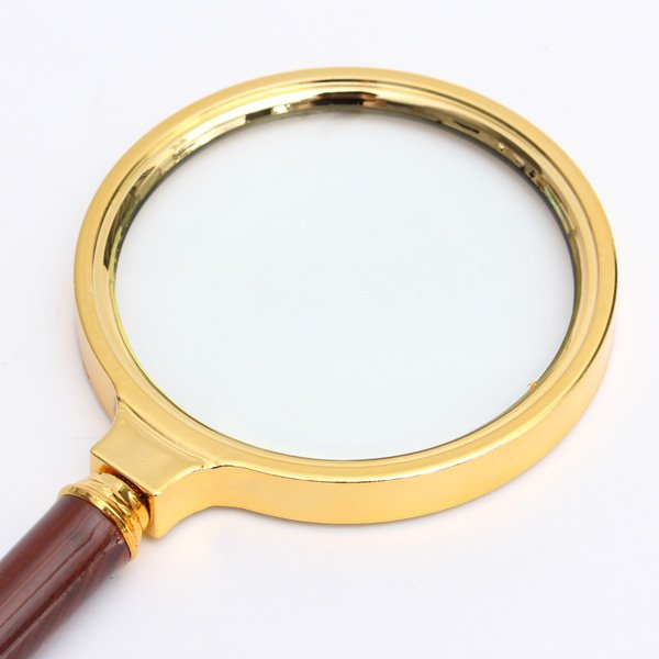 80mm 10X Handheld Magnifier Magnifying Glass Lens Zoomer Loupe