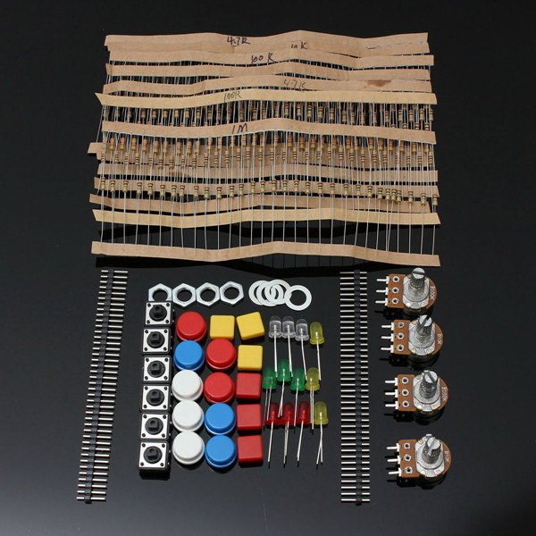 Electronic Parts Component Resistors Switch Button Kit For Arduino