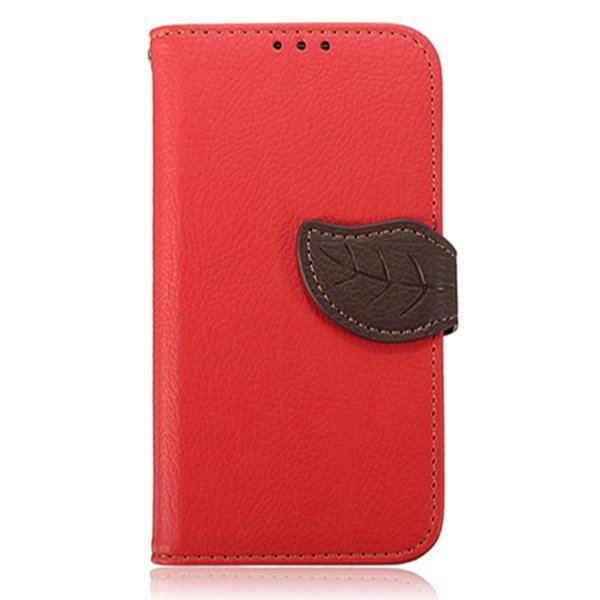 Leaf Magnetic Flip Wallet Card Leather Case For Samsung Galaxy S4