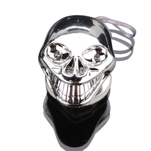 12V Skull LED Car Decorative Flashing Light