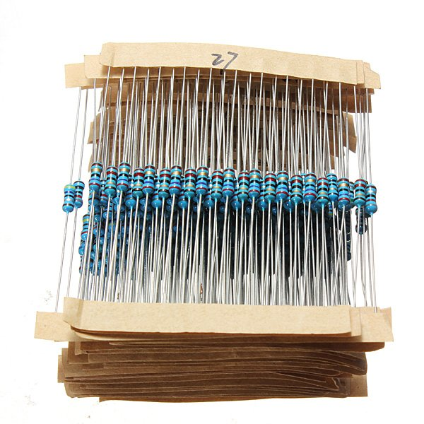 560pcs 56 Values 1/4W 1% Metal Film Resistors Assorted Kit Set