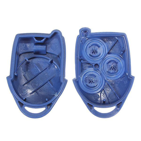 3 Buttons Remote Bule Key FOB Case Shell Cover for Ford
