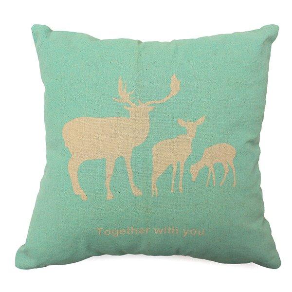 Nordic Animal Linen Cotton Bird Throw Pillow Case Cushion Cover