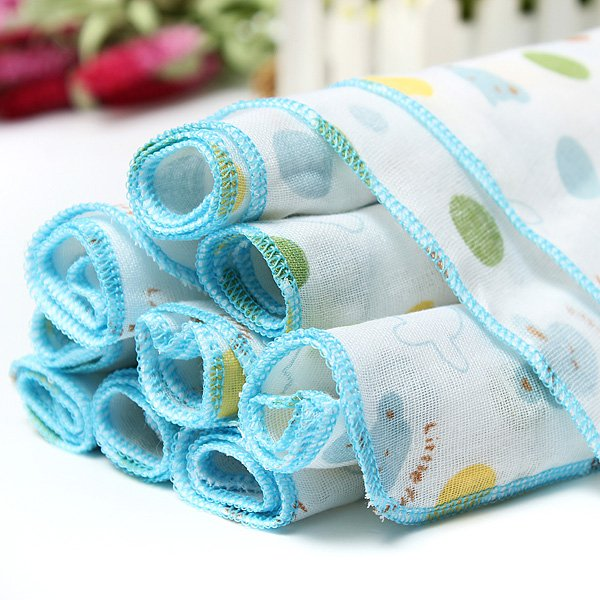 10Pcs Cotton Muslin Baby Gauze Washcloth Feeding Wipe Sweat Towel