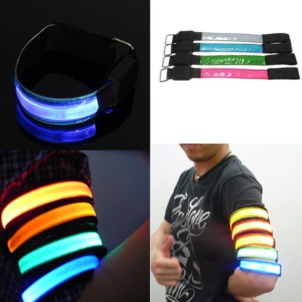 LED Arm Band Belt Safety Reflective Strap Wrist Wrap Bracelet