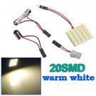 Car Light Panel 20 SMD LED Bulb Lamp T10 Dome Bulb BA9S 12V DC Adapter