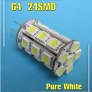 G4 24 SMD 5050 LED Warm White Marine Car light Bulb 280LM 4.8W DC