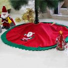 Green Wavy Gold Edge Christmas Tree Skirt Home Decor Xmas Ornaments