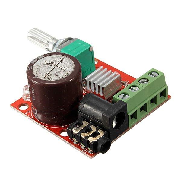 12V Mini Hi-Fi PAM8610 2X10W Audio Stereo Amplifier Board Dual Channel