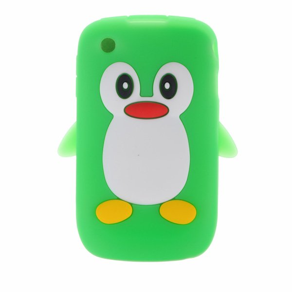 Cute Penguin Soft Silicone Case For Blackberry Curve 8520 8530 9300