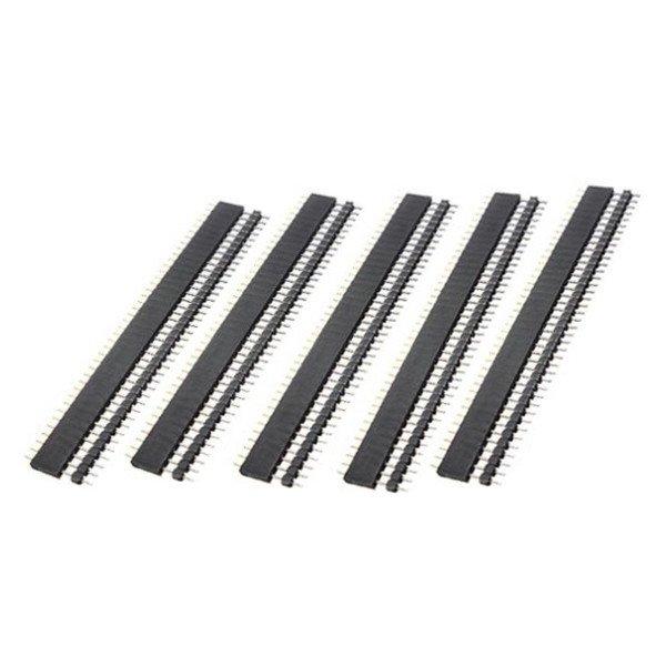 10 Pair 40 Pin 2.54mm Male Female SIL Socket Row Strip PCB Connector
