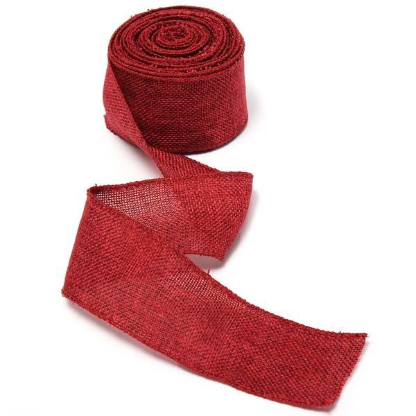 5m Jute Fabric Ribbon Handwork DIY Home Party Wedding Decoration