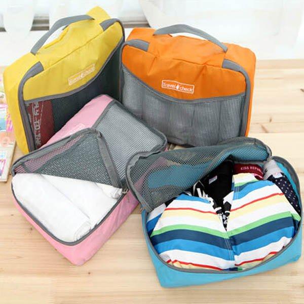 4 Colors Nylon Travel Storage Bag Luggage Wash Bags