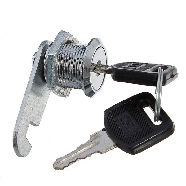 2 Keys Cam Chest Lock Camlock Door Cabinet Drawer Cupboard