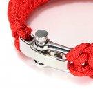 7-Stands ParaCord Bracelet With Zinc Alloy Shackle Buckle