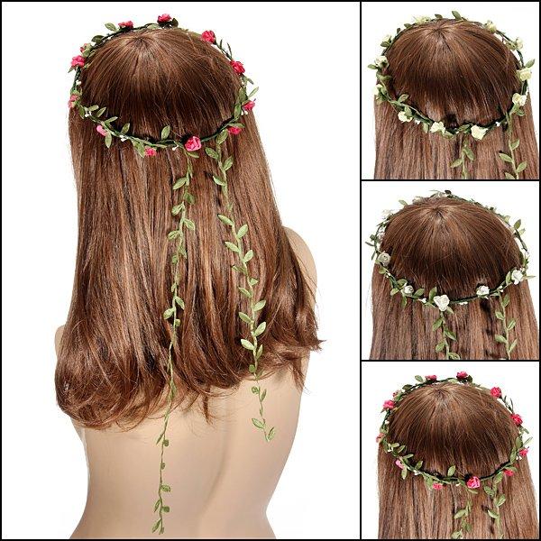 Bohemian Festival Wedding Bride Garland Headdress Flower Headbands