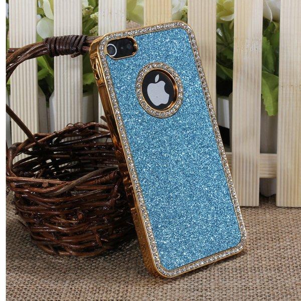 Stylish Bling Glitter Chrome Rhinestone Hard Back Case For iPhone 5 5G