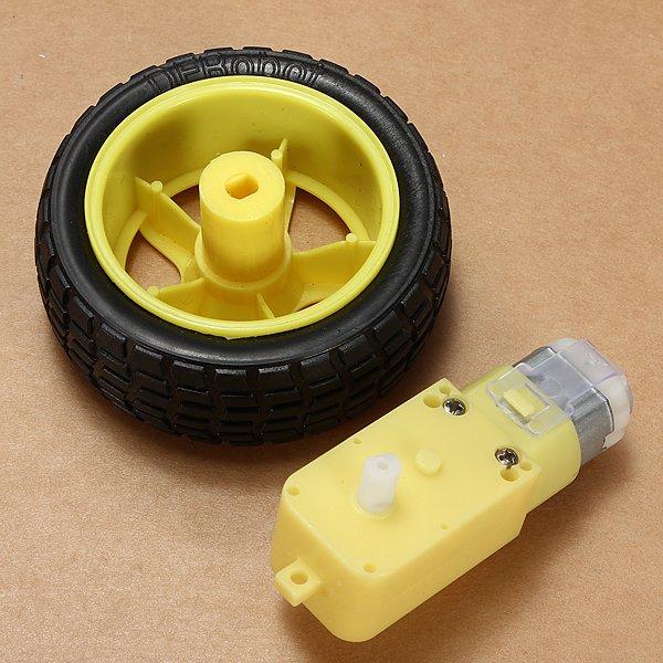 Robot Smart Car Wheel Deceleration DC Motor For Arduino Smart Car
