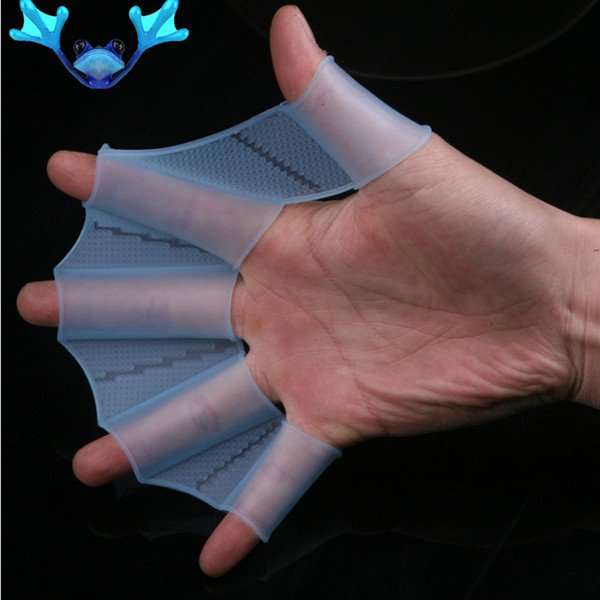 Swim Gear Fins Hand Webbed Flippers Silicone Training Gloves