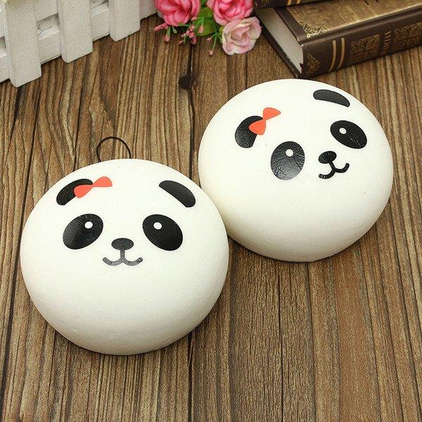Kawaii Jumbo Panda Squishy Buns Cell Phone  Bag Strap Pendant