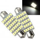 2x1.5W 12V 30 3020-SMD Led Car Interior Festoon Dome Bulb Lights