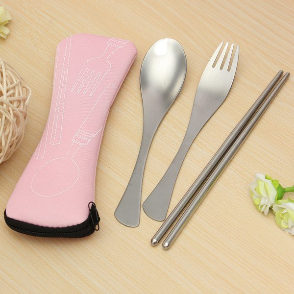 Traveling Camping Picnic Spoon Fork Chopsticks Spork Cutlery