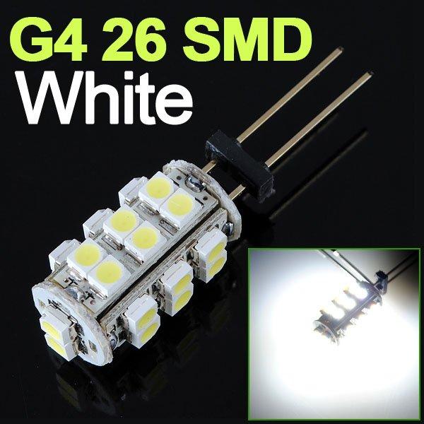 G4 26 SMD LED RV Marine Boat Camper Light Bulb 12V 2W